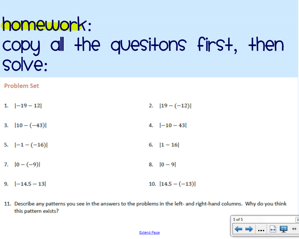 First Nine Weeks Math with Ms luu – Rules for Adding and Subtracting Integers Worksheet